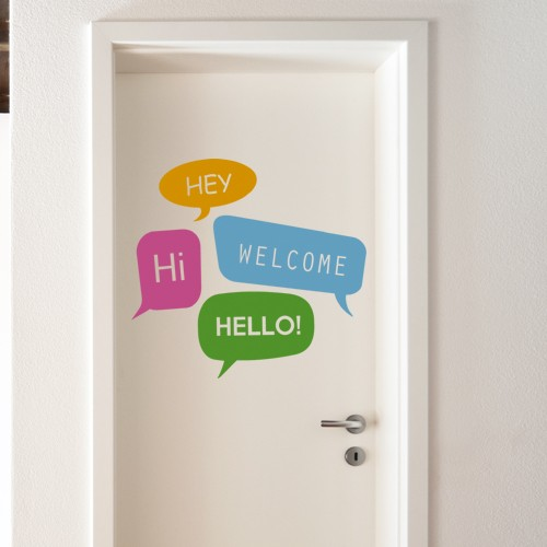 Welcome Door Decal & Welcome Wall Decal - Stickers for doors - 4make - CoolWallArt