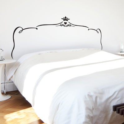 Merveilleux Romantic Bed Headboard Wall Decal