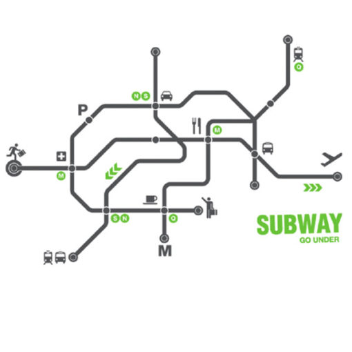 subway wall decal grey green 4make