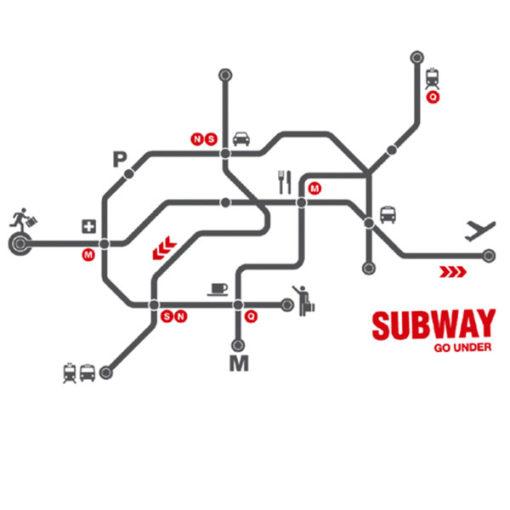 subway wall decal grey red 4make