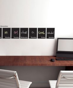 Chalkboard Wall Decal Weekly Calendar