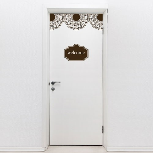 Door Decal Door Lace Welcome & Door Decal Door Lace Welcome - door decorations