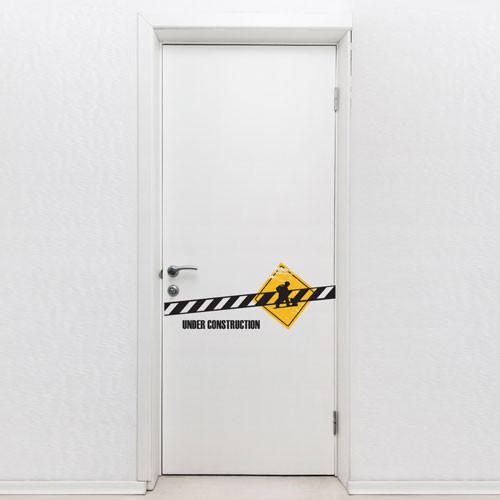 Door Decal under construction