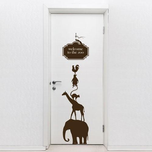 door decal welcome to the zoo door decorations