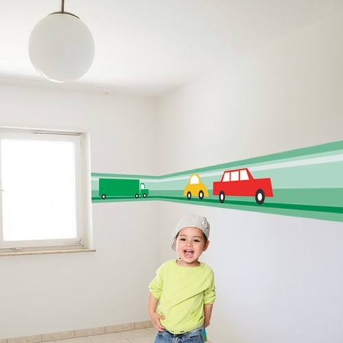 Wall Border Cars - Kids room borders