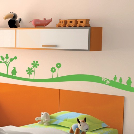 Wall Border Penguin - Kids room borders