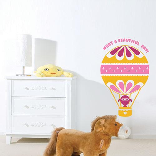 Kids wall decal air balloon
