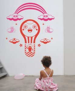 Air Balloon kids Wall Decal