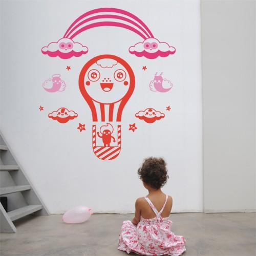 Kids Wall Decal Air Balloon Vinyl Wall Decals