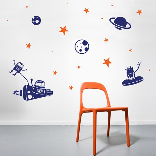 Kids wall decal astro vinyl wall decals for Childrens wall mural stickers
