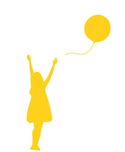 wall decal balloon yellow