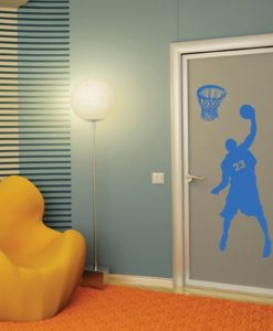 wall decal basketball player blue