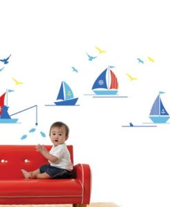 Kids Wall Decal Boats