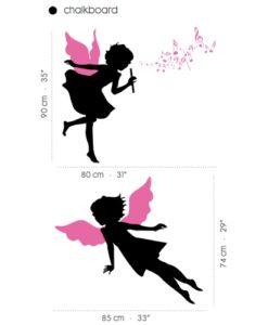 chalkboard wall decal fairies