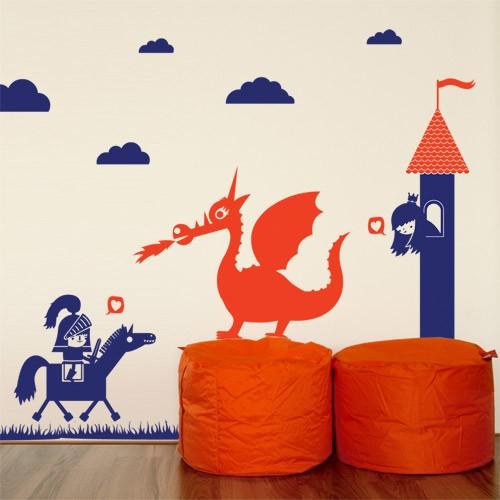 Dragon Kids Wall Decal