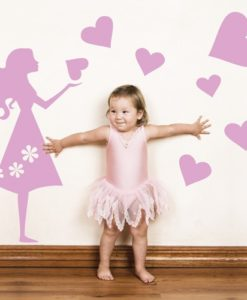 Kids Wall Decal Emma's Hearts