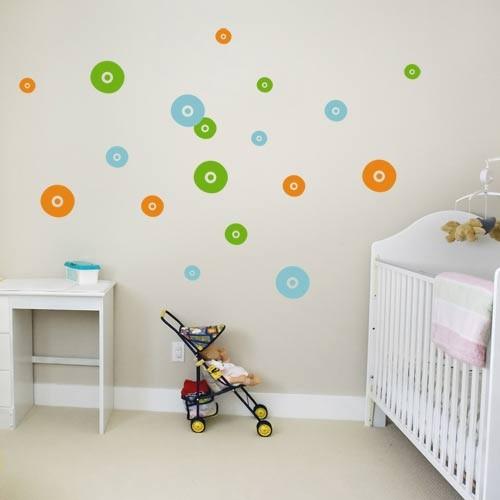 Fleece Circles Kids Wall Decal