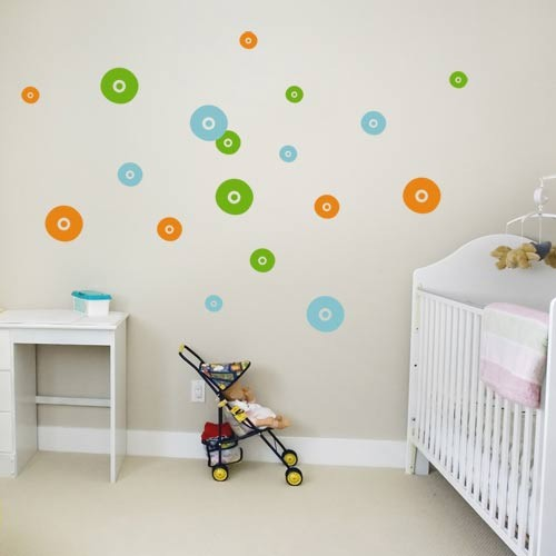 kids wall decal fleece circles vinyl wall decals. Black Bedroom Furniture Sets. Home Design Ideas