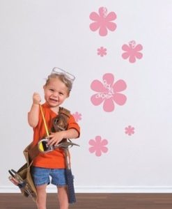 Kids Wall Decal Flowers