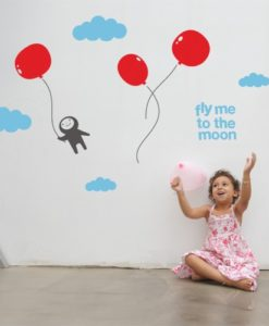 fly me to the Moon Kids Wall Decal
