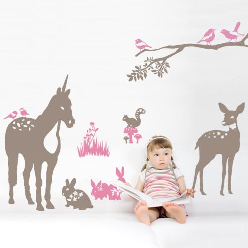 Kids Wall Decal Forest -Nature Vinyl Wall Decals