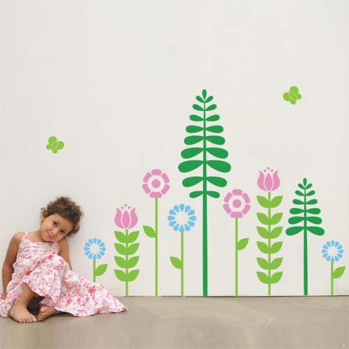 Kids Wall Decal My Flowers - Vinyl Wall Decals