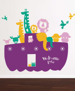 Wall Decal Noah's Ark Purple