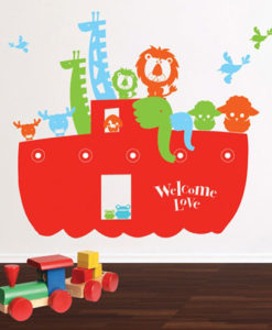 Wall Decal Noah's Ark Red