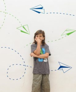 Paper Planes Kids Wall Decal