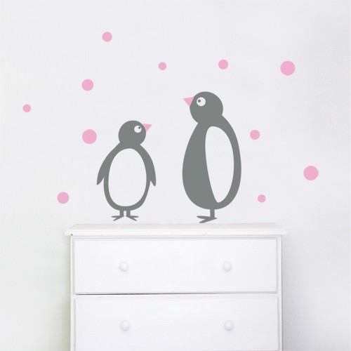 kids wall decal penguins