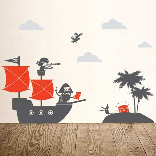 Beautiful Pirates Kids Wall Decal