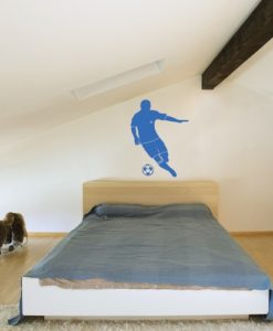Kids Wall Decal Soccer Player