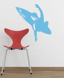 Kids Wall Decal Surfer