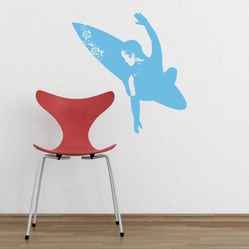 Kids Wall Decal Surfer & Wall Decal Surfer u2013 Surf Art Stickers -- CoolWallArt