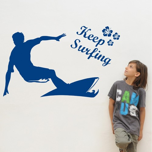 Surfing Kids Wall Decal
