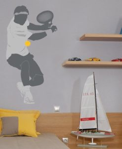Kids Wall Decal Tennis Player