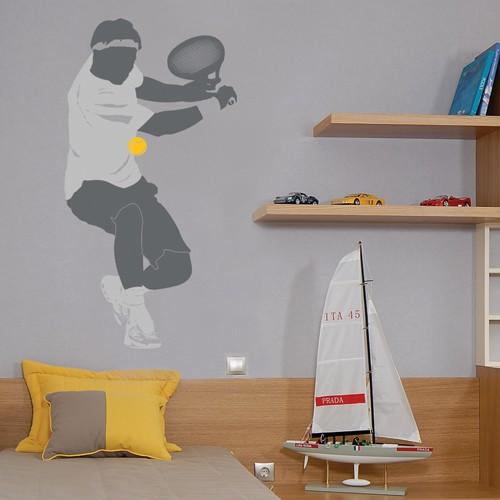 Kids Wall Decal Tennis Player