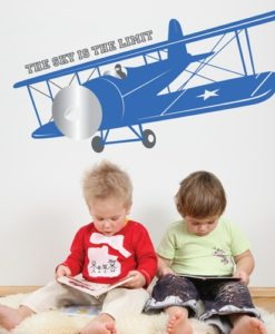 Kids Wall Decal Vintage Airplane