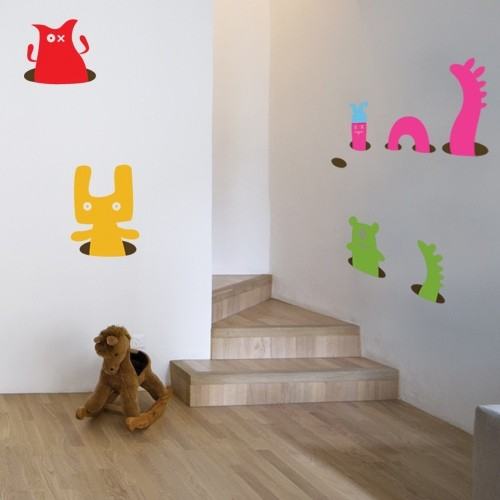 Kids Wall Decal Worms