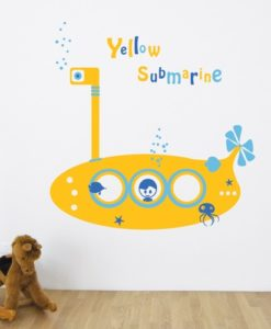 Kids Wall Decal Yellow Submarine