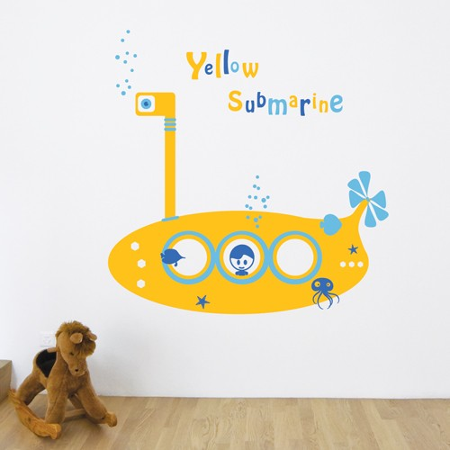 Yellow Submarine Wall Decal Kids Wall Stickers Coolwallart
