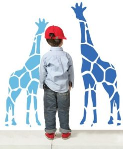 Kids Wall Decal Zoo Giraffes