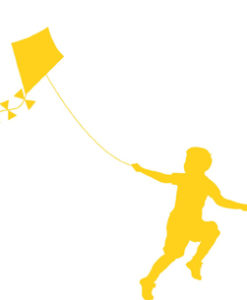 Wall Decal Kite Yellow