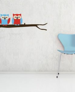 Wall Decal Owls on a Branch
