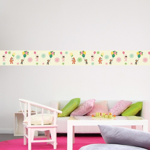 Lovely Wall Border Decal Balloons   Paul Frank