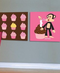 Wall Pictures Set Cupcakes - Paul Frank