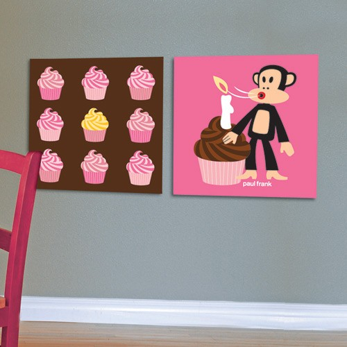 Cupcake Wall Art wall pictures set cupcakes - paul frank wall art - coolwallart