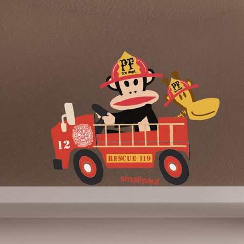 Fire Truck Wallpaper: Walls In Motion: Car Wall Decals For Kids Room Decor