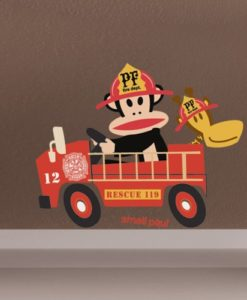 Wall Decal Fireman - Paul Frank