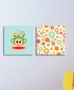 Wall Pictures Set Flowers - Paul Frank